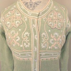 Storybook Knits Floral Embellished Sweater